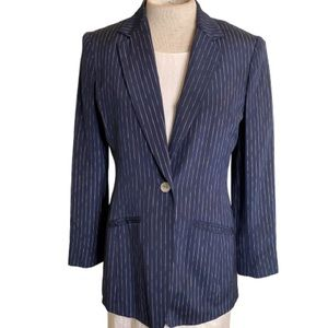 Liz Claiborne Blue & White Strip Blazer Size 4